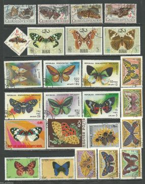 Butterflies Moths Polar Bear Animals On Stamps Bugs BRASIL sheet - FISH  Animals On Stamps   Asia Stamp Collecting Birds of Prey Owls Hawks Eagles Animals  Bangladesh  Elephant Marine life Leopard   Spotted Deer Belize  Bear Tiger  Stamps  Topical Stamps  Wildlife  Insects Butterfly Packet of 25 Stamps used