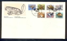 CANADA FOX, MUSKRAT, BRASIL sheet FISH  Animals On Stamps   Asia Stamp Collecting Birds of Prey Owls Hawks Eagles Animals  Bangladesh  Elephant Marine life Leopard   Spotted Deer Belize  Bear Tiger  Stamps  Topical Stamps  Wildlife  BEAVER - FAUNA FDC