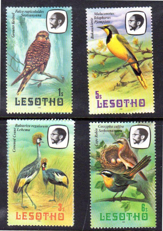 LESOTHO MNH VF 322,324-326 BIRDS