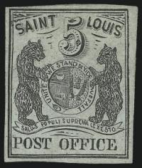 St. Louis Mo. 5c Black - St. Louis Bear Stamp