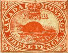 Threepenny beaver stamp