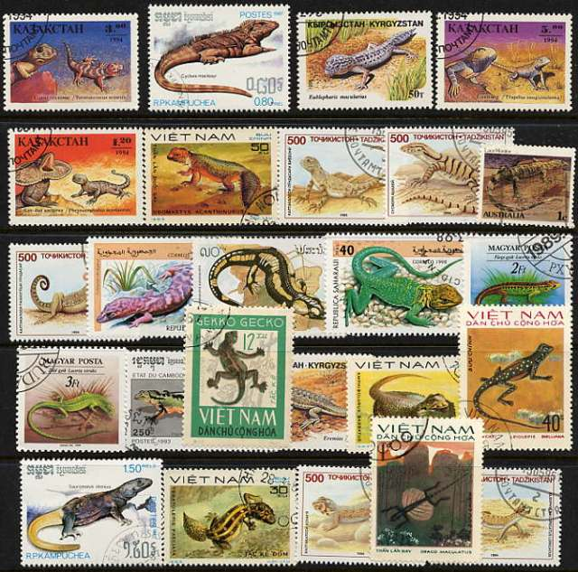 Animals on Stamps TANZANIA Stamps SNAKE Stamps 1996 Topical stamp collection  thematic stamp collecting  postage stamps Africa Venomous snakes African reptiles Lizards on Stamps herpetology wildlife wild animals poisonous snakes reptiles of tanzania