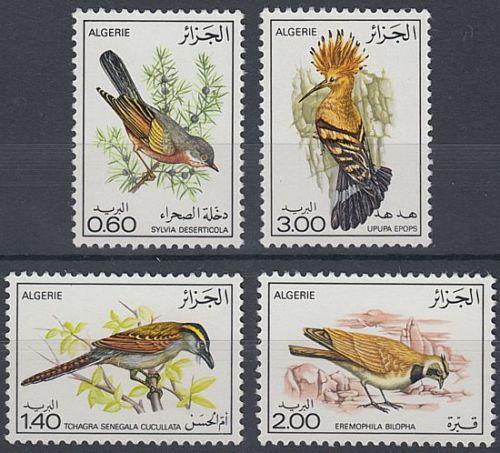 ALGERIA 1977 ALGERIAN BIRDS (2ND SERIES) SET (4) UHM