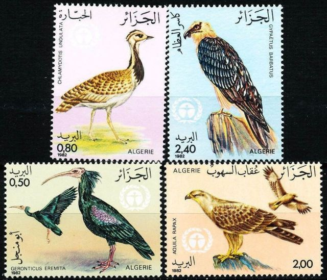 ALGERIA 1982 PROTECTED BIRDS SC# 701-04