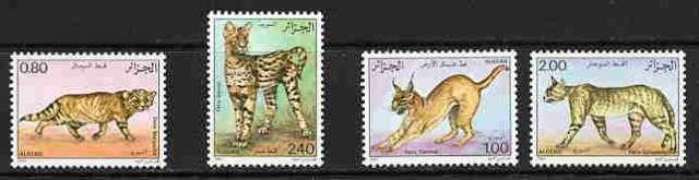 Algeria 1986 Wildcats (Scott #801-804) MINT