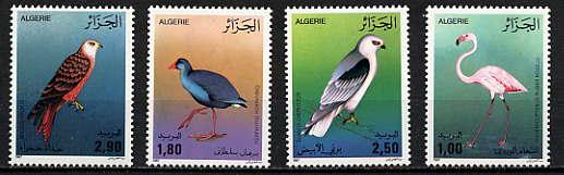 Algeria 1987 Birds (Scott #849-852) MINT