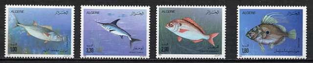 Algeria 1989 Fish set (Scott #902-905) MINT