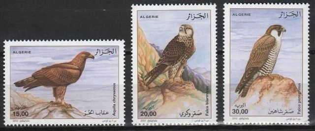 ALGERIA BIRDS OF PREY Stamp SET 2010