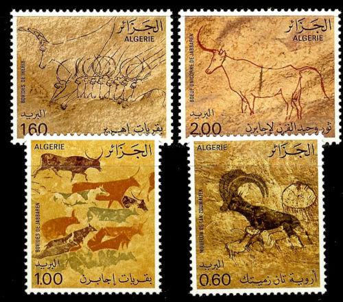 ALGERIA. Cave Drawings. 1981. Scott 675-678. MNH