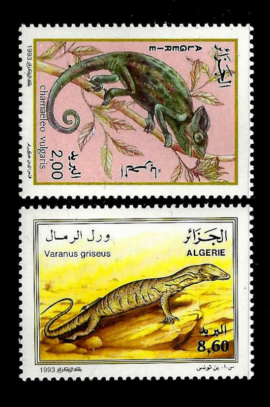 Fauna animals Reptiles on Stamps Animals on Stamps TANZANIA Stamps SNAKE Stamps 1996 Topical stamp collection thematic stamp collecting postage stamps Africa Venomous snakes African reptiles monitor Lizards on Stamps herpetology wildlife wild animals African chameleon poisonous snakes reptiles of Algeria Varanus Chamaeleo Chameleon 1993 Algeria Stamp Scott #990 - Scott #991