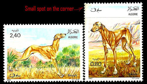 ALGERIA. Sloughi Dogs. 1983. Scott 727-728. MNH