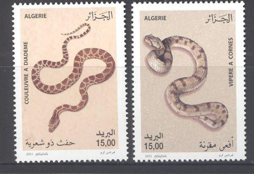 ALGERIA SNAKES Stamp SET 2011
