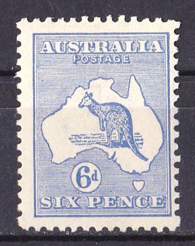 Australia 1915 Kangaroo 6d Ultramarine