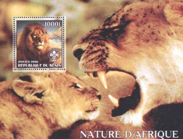 Benin Lion stamp Africa  postage stamp collecing topical stamp collecting animals on stamps wildlife on stamps african wildlife on stamps wild animals on stamps african wild animals on stamps lions thematic stamp collector