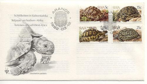 Reptiles - Geochelone Tortoises - 1982 FDC South Africa