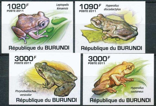 BURUNDI 2011 Frog  four stamps