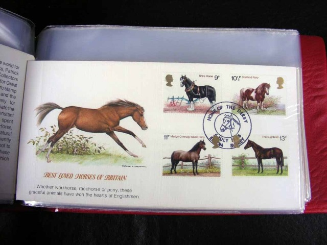 Great Britain horses horses on stamps  animals on stamps wildlife stamps topical stamp collecting thematic stamp collector  collecting postage stamps as a hobby horse breeds types of horses stamp collector of fauna wild animals on stamps wildlife on stamps mammals on stamps postage stamps of the world   FDC