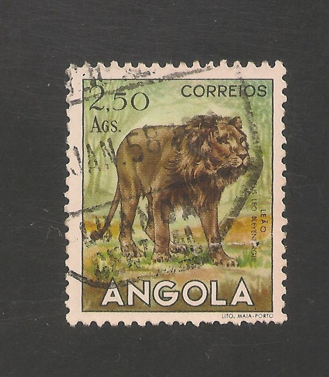Angola Scott #372  Mi #378   1953 2.50a Lion