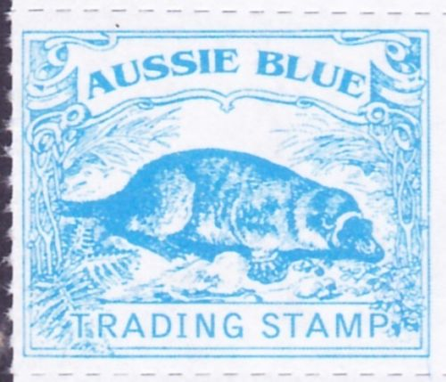 Aussie Blue - Platypus - trading stamps  Ornithorhynchus anatinus  zoological stamps  animals on stamps wildlife stamps Australian postage stamps topical stamp collection thematic stamp collecting mammals on stamps fauna on stamps philatelist  philatelic collection  philatelic collector stamp collecting for beginners Australian wildlife Australian fauna Australia topical stamp collecting