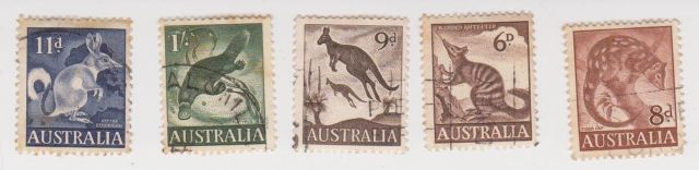AUSTRALIA  1959 AU 5mix zoo series