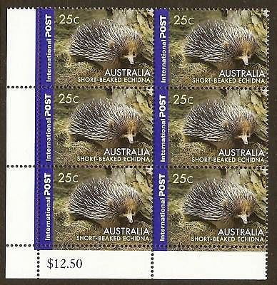 AUSTRALIA  - Short-Beaked Echidna International 25c  animal stamp wildlife stamp topical stamp collecting thematic stamp collecting Australian wildlife postage stamps  spiny anteater collecting postage stamps  Australian spiny anteater  echidna Short-beaked echidna Tachyglossus aculeatus